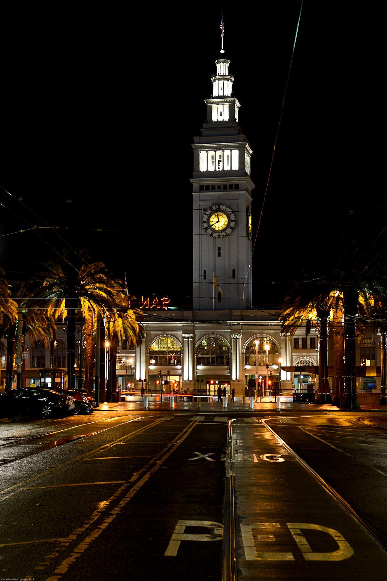 Embarcadero Clock Tower at Night