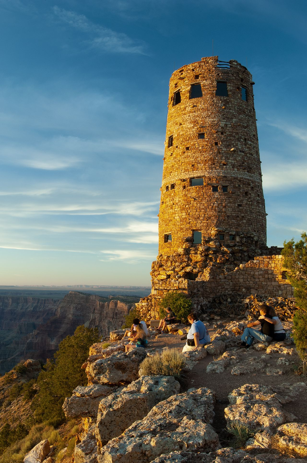 Historic Watch Tower at Sunset