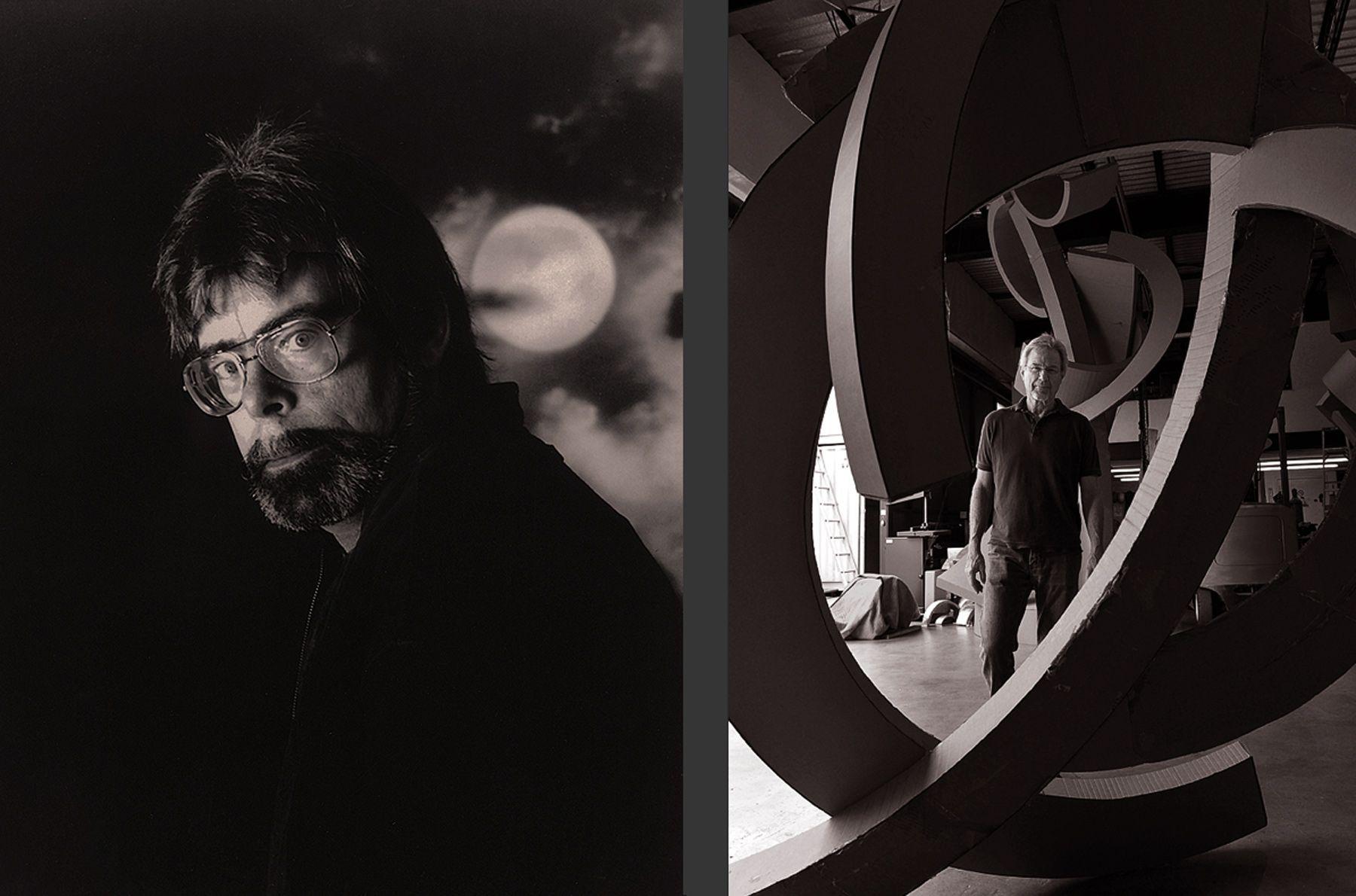 Stephen King & Guy Dill, sculptor