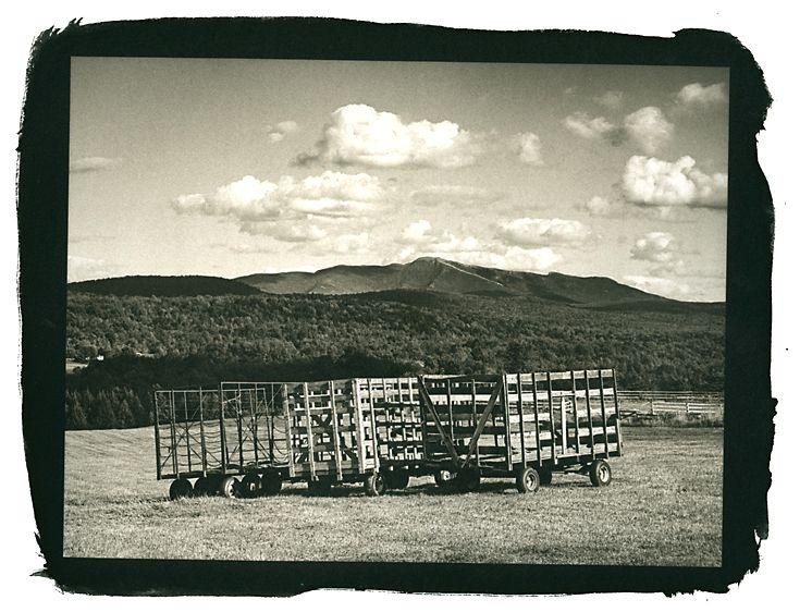 Hay Wagons, Westford, Vermont