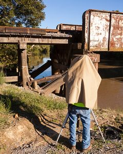 Robert Using Linhof at Marks, Ms.