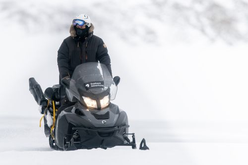 Svalbard in Winter by Snow Mobile