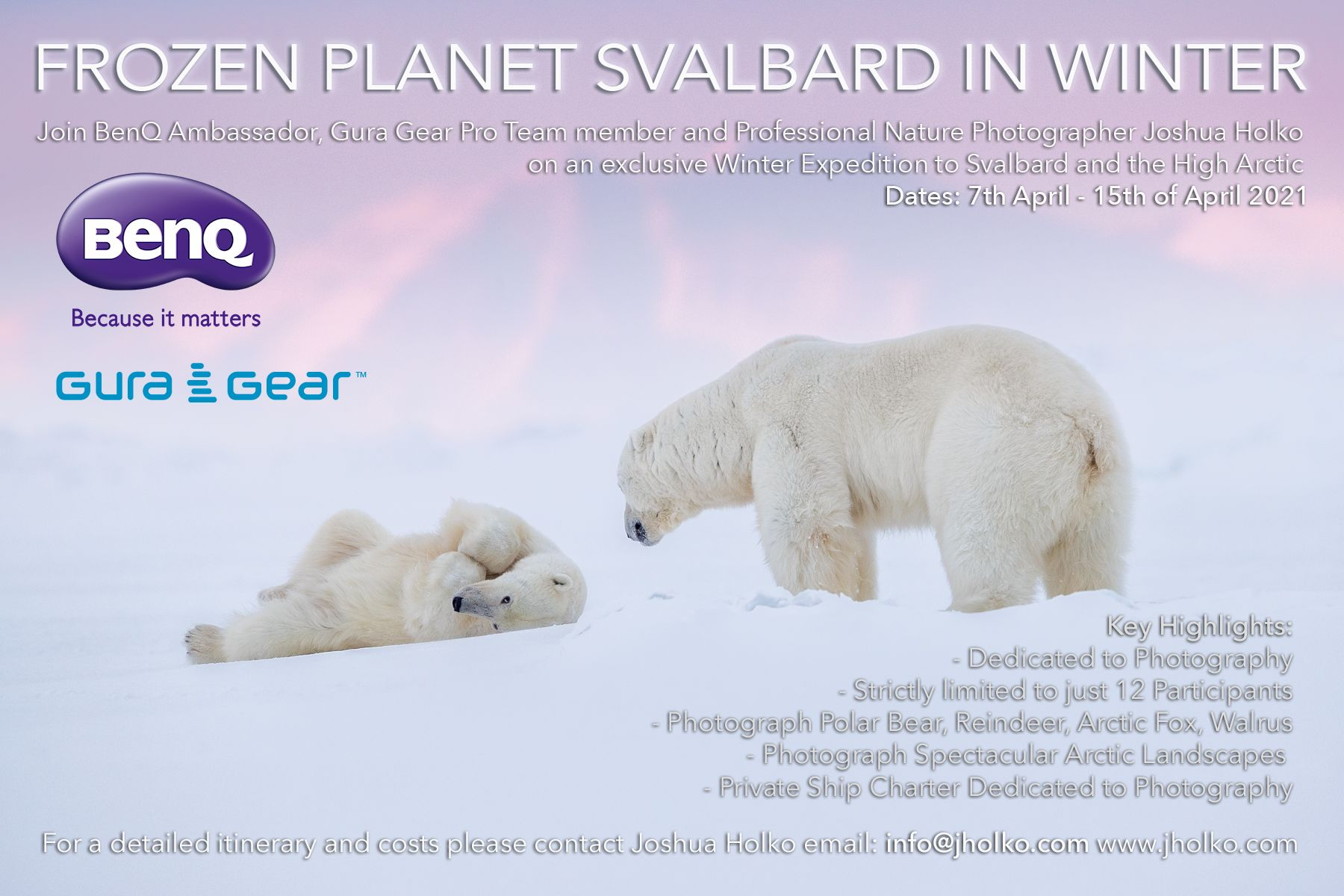 Frozen Planet Svalbard in Winter Expedition with Joshua Holko
