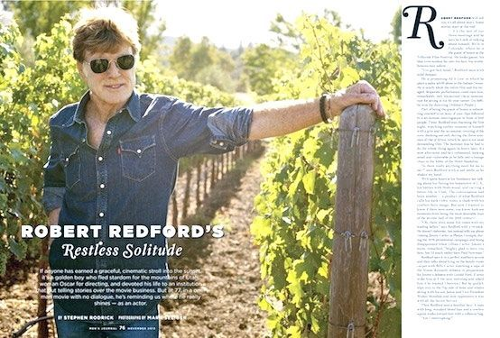 Robert Redford Men's Journal - NOV 2013
