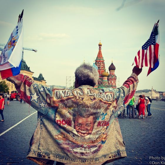 Don King in Red Square Moscow, Russia
