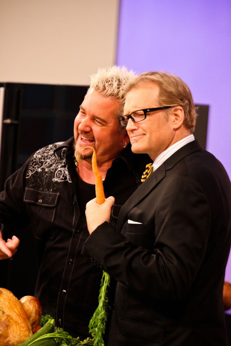 Guy Fieri and host Drew Carey On stage at The Price Is Right by Photographer Lanisha Cole