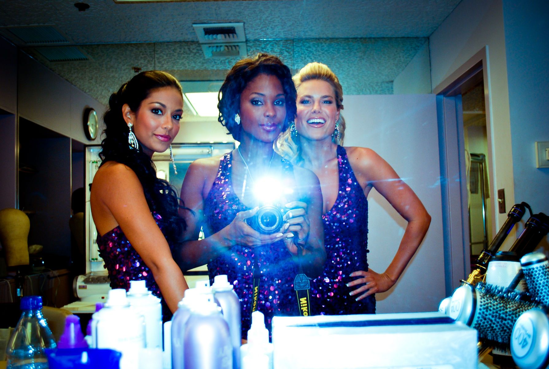 Manuela Arbelaez, Lanisha Cole, and Rachel Reynolds Backstage Beauties by Lanisha Cole PhotographyBehind The Scenes at The Price Is Right Television CityTelevision City