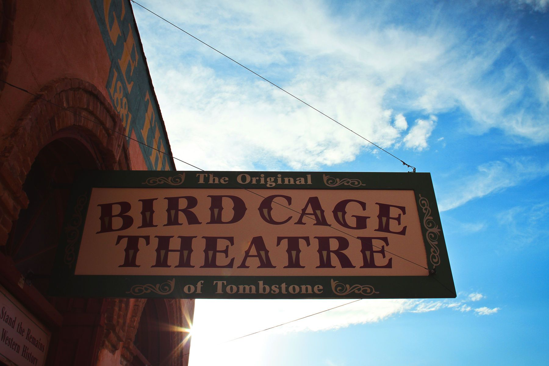 """Bird Cage Theatre sign in Tombstone, ArizonaFact or Faked"""" Paranormal Filesphoto by Lanisha Cole"""