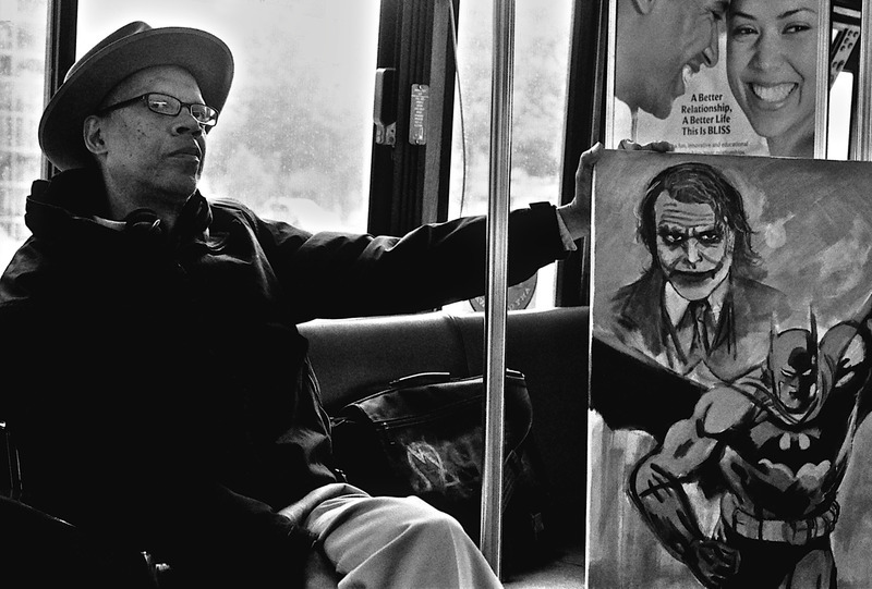 MAN ON THE BUS