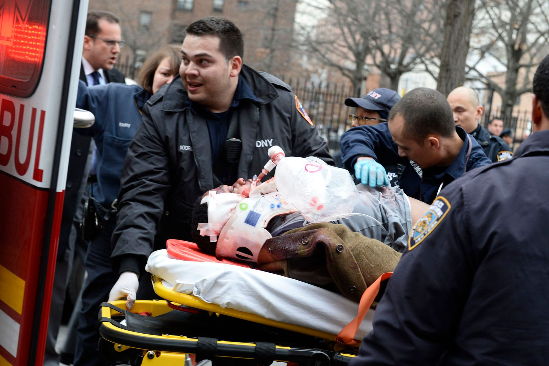 Two NYPD police officers shot and killed in Brooklyn.