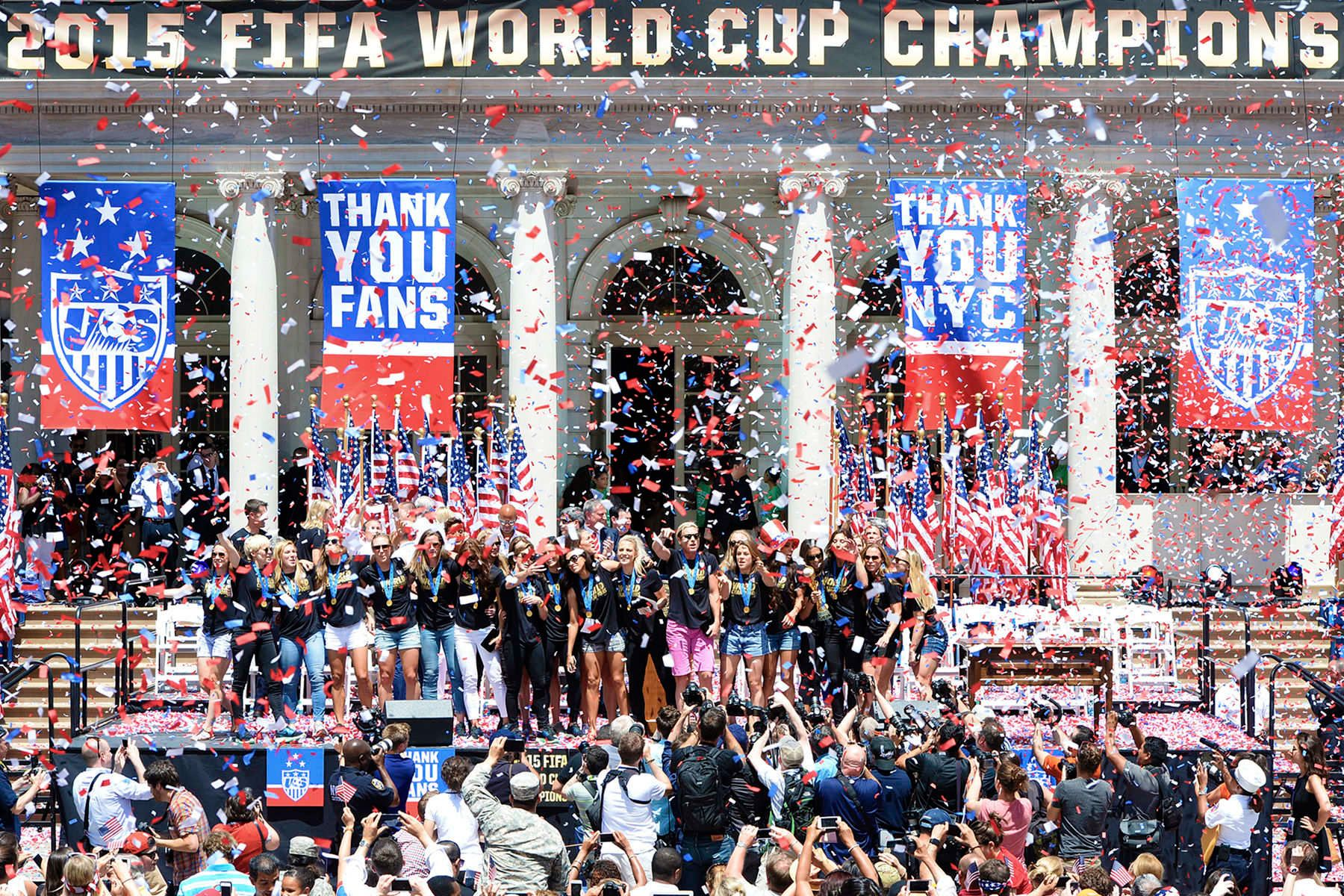 2015 FIFA Women's World Cup Champion U.S. Women's National Team.