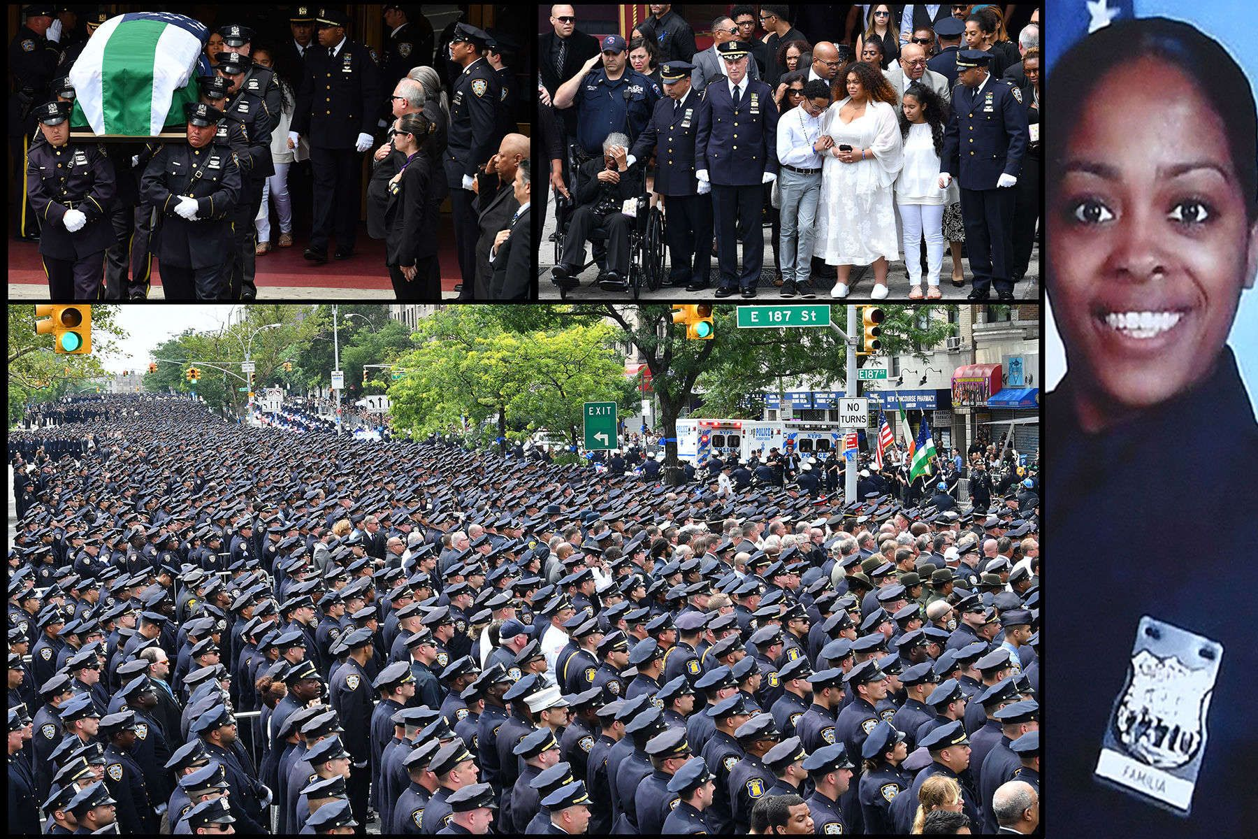 NYPD funeral for police officer Miosotis Familia