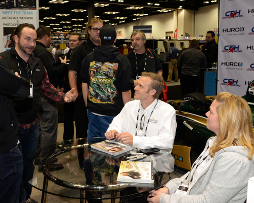 Indy Car drivers meet and greet.