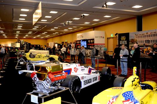 Indy car exhibit at PRI Trade show