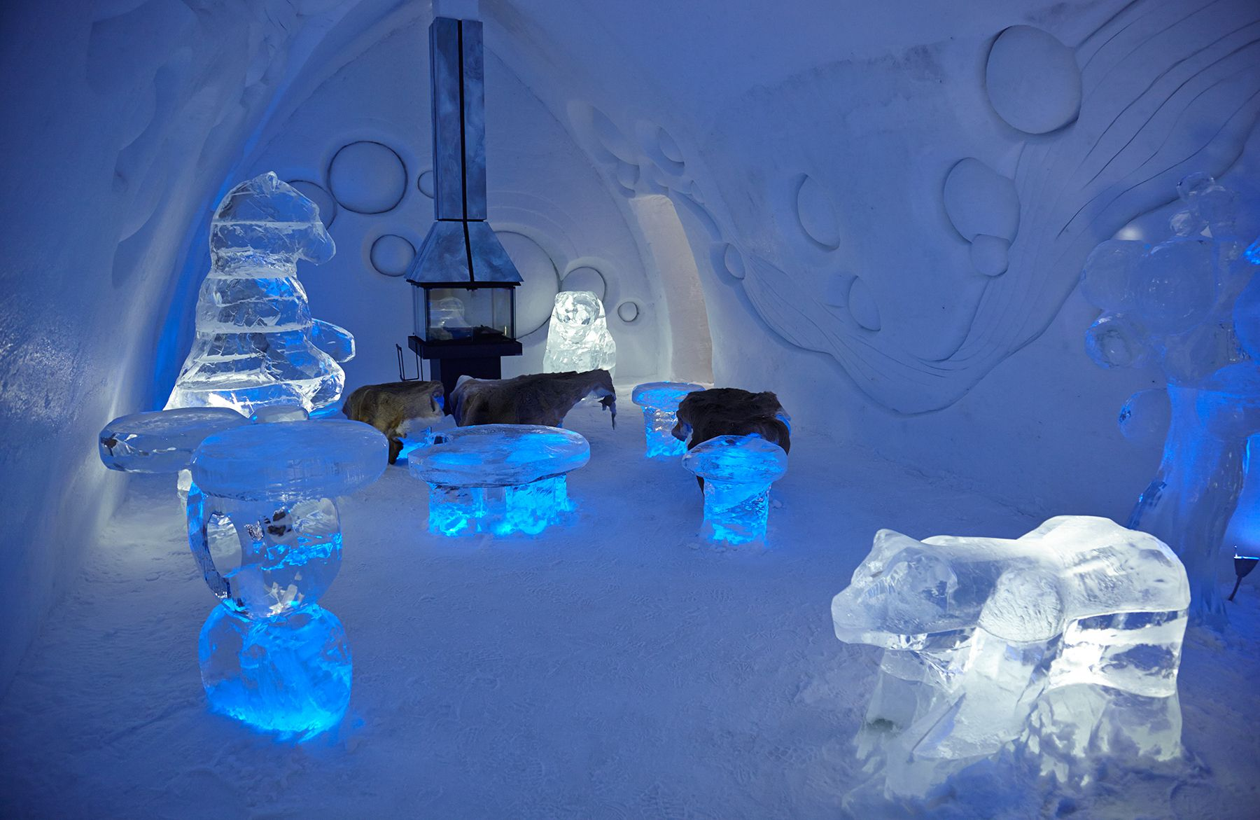 Bedroom at the Hotel De Glace, Quebec