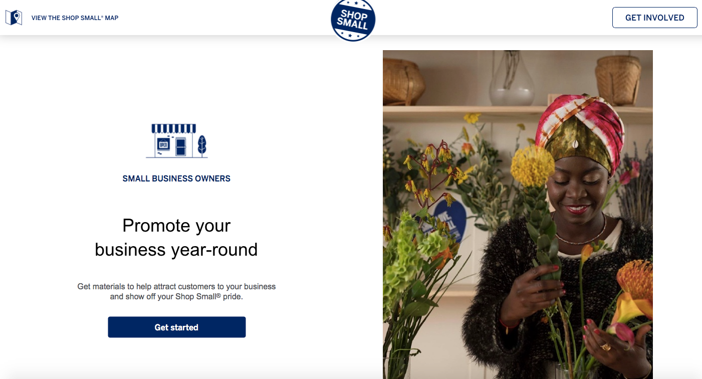 "American Express "" Shop Small"""