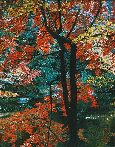 RED MAPLE, BLACK TRUNK, 1987