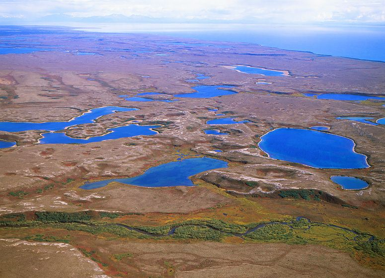 UPPER TALARIK CREEK, TUNDRA PONDS AND LAKE ILIAMNA