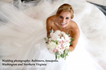 Bride portrait taken At The United States Naval Academy