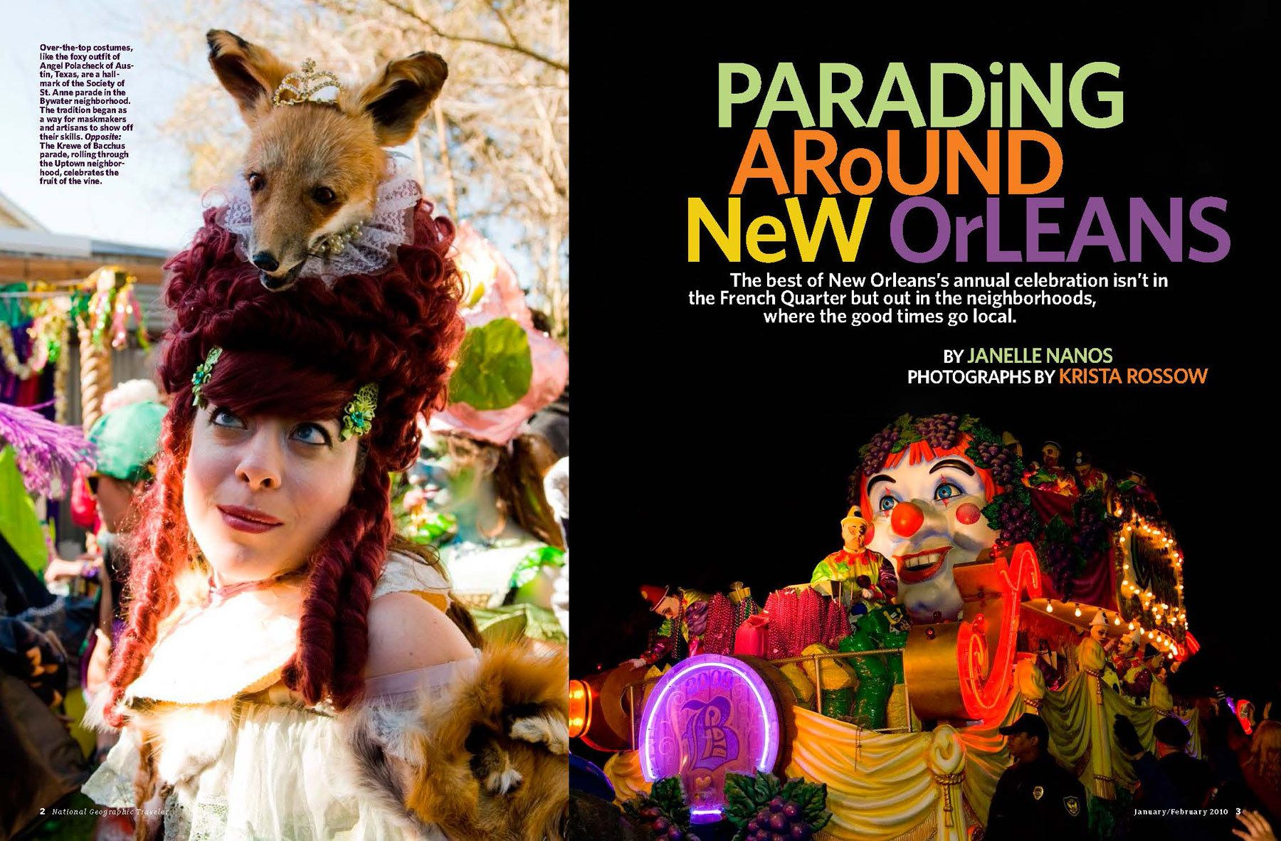"""Parading Around New Orleans"" feature story."