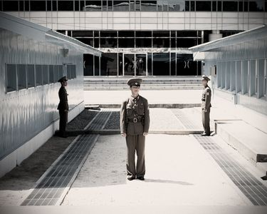 North Korean Guards at the DMZ