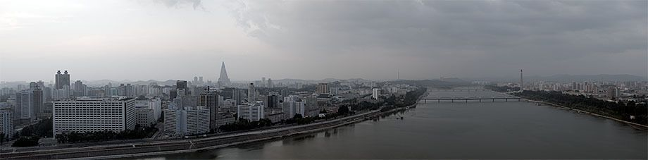 Skyline over the Taedong River