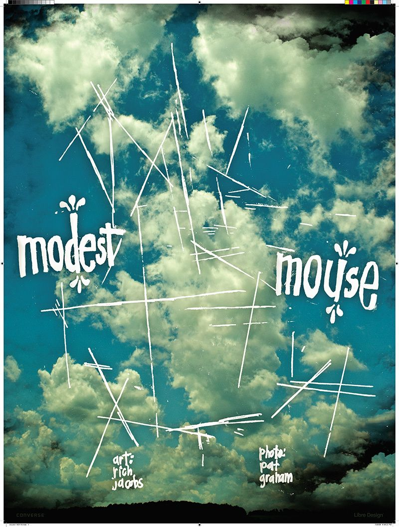The orginal design for the Rich Jacobs and Pat Graham Modest Mouse Poster.