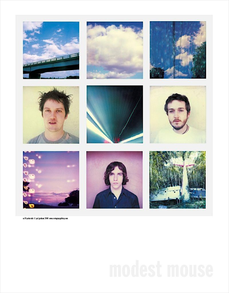 Modest Mouse SX70 polaroid poster