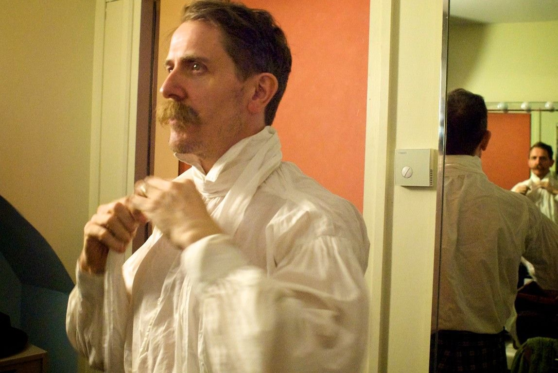 Billy Childish gets dressed to play the Royal Albert Hall, London