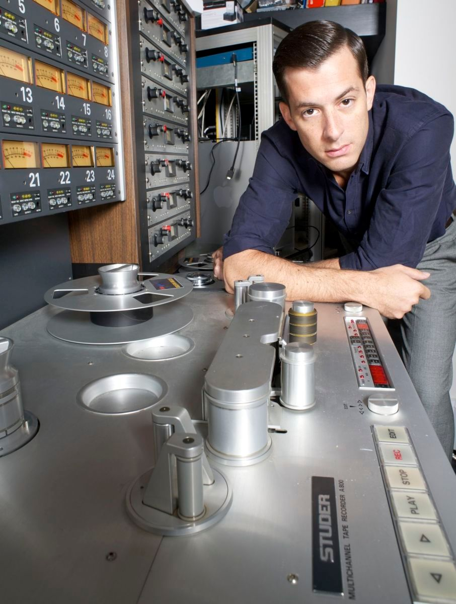 Mark Ronson in his London studio. Photographed for Billboard Magazine