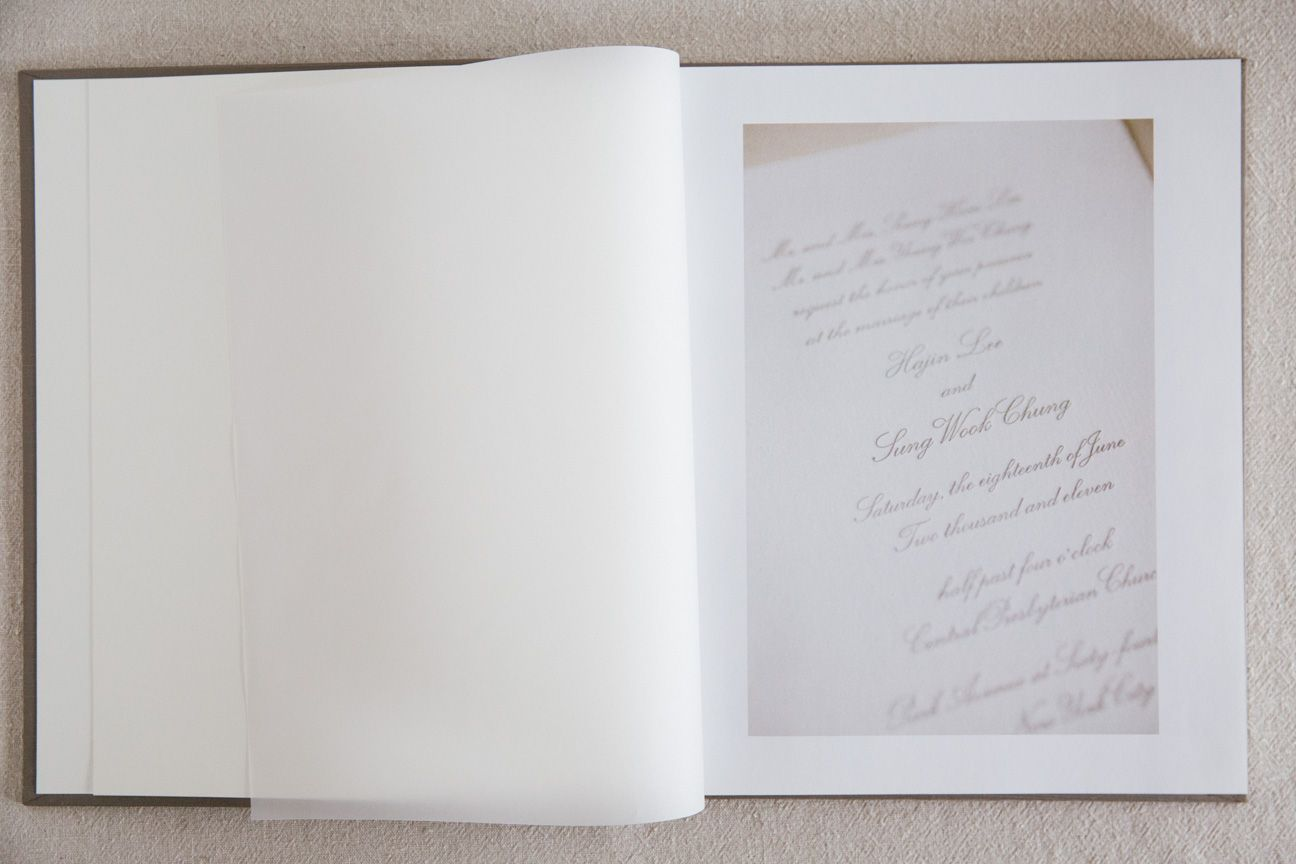 Sample wedding albums page