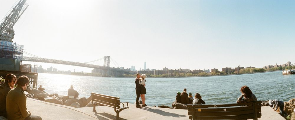 Williamsburg Bridge, Grand St Park, Engagement Portrait Session, Brooklyn , NY