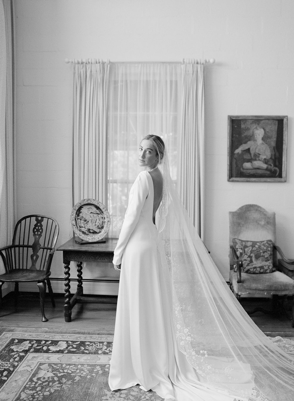 Bridal portrait in natural light