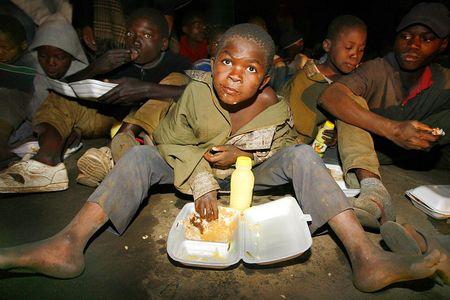 Night time feeding program to street kids / AIDS orphans, Lusaka, Zambia