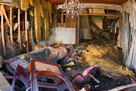 The interior of a home destroyed / Hurricanne Katrina New Orleans, St Bernard's parish