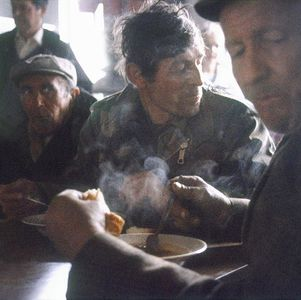 from a series of the War in Kosovo / refugee camp feeding center