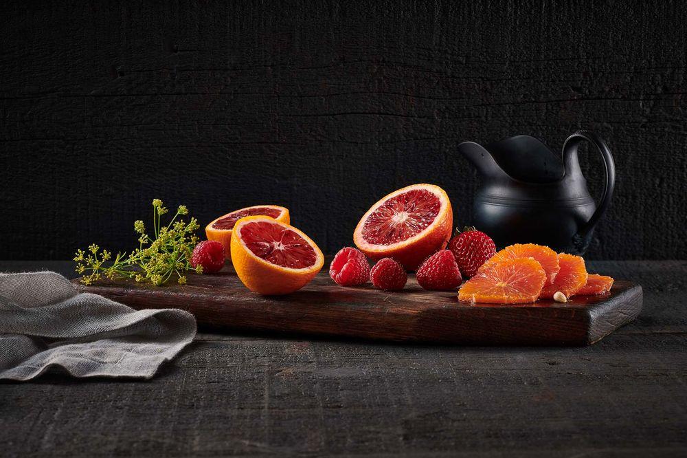 Blood orange and berries