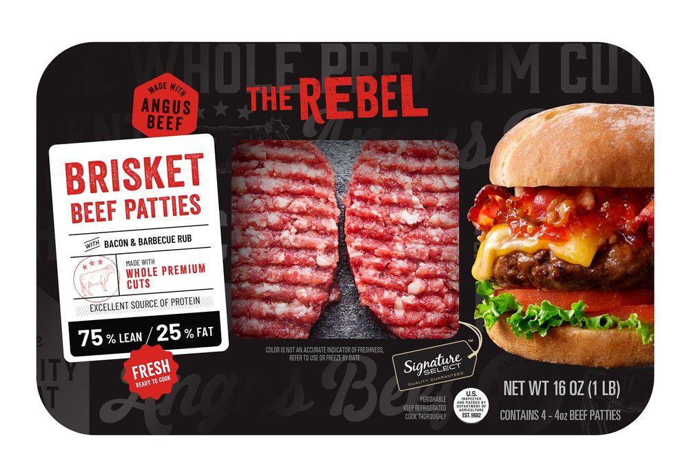 Albertson's Signature Select bacon tomato jam burger