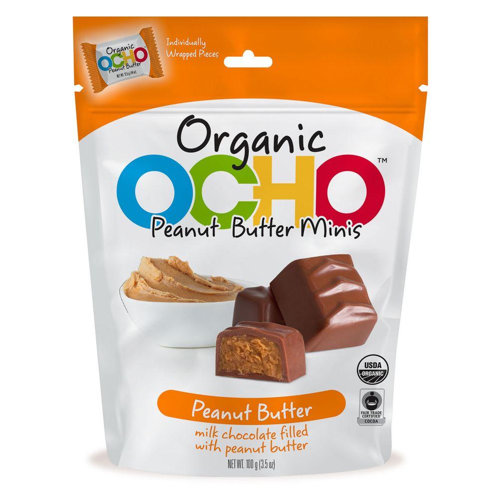 Ocho Organic milk chocolate peanut butter minis