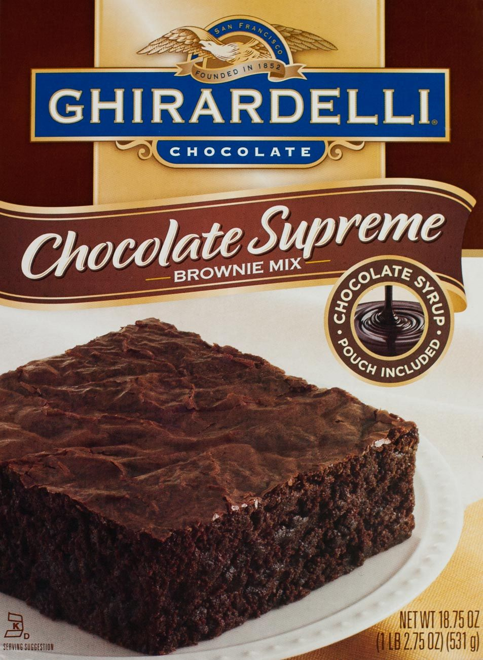 Ghirardelli chocolate supreme brownie packaging
