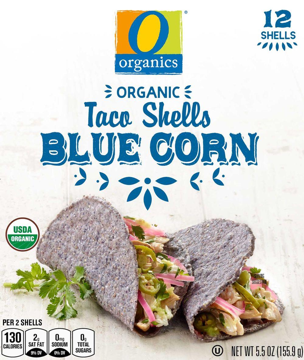 O Organics blue corn taco shells