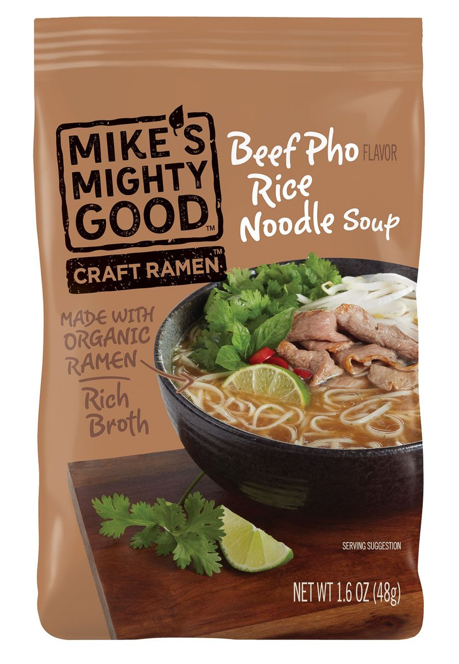 Mikes beef pho rice noodle soup