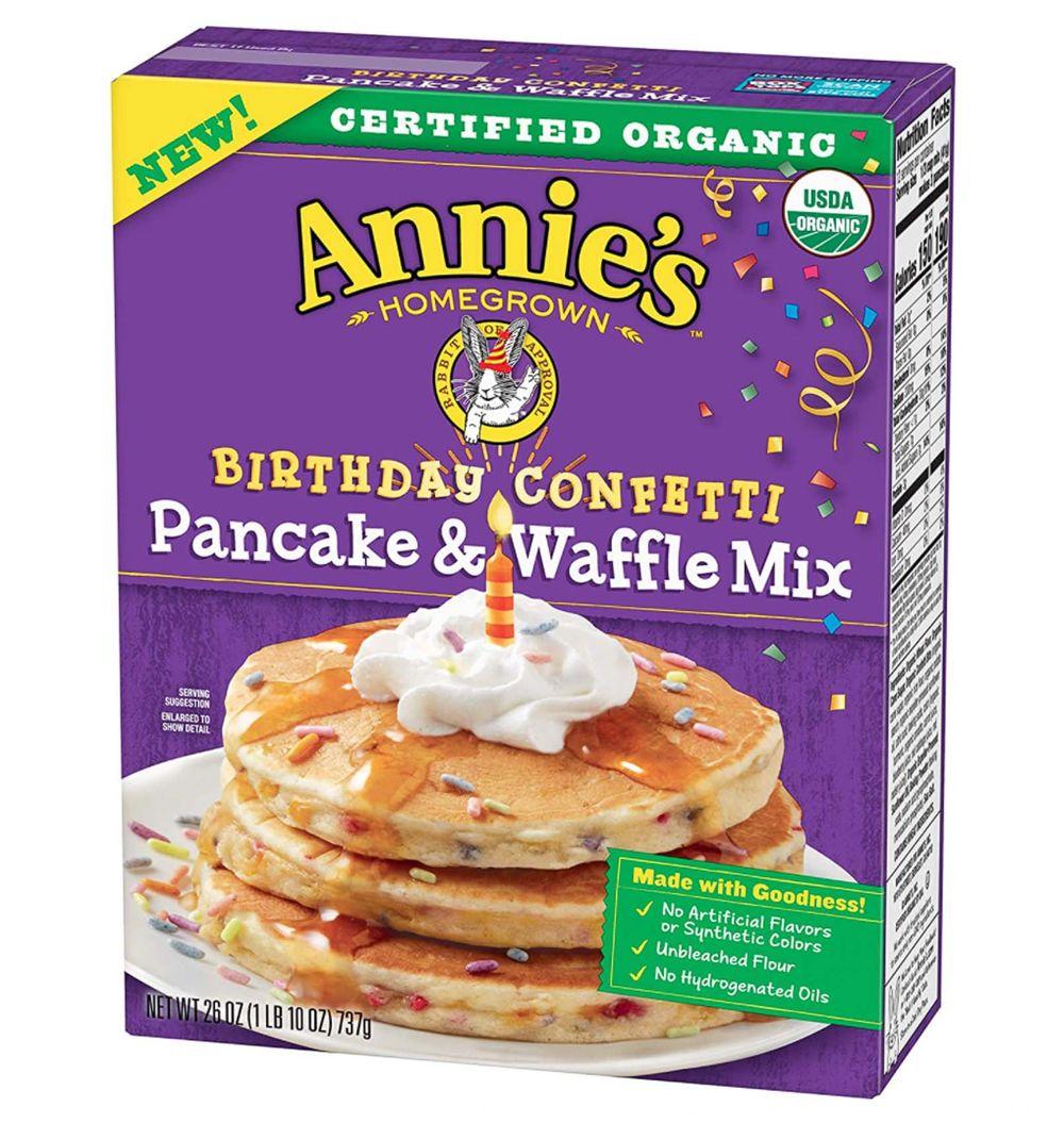 Annies organic birthday confetti pancake waffle mix