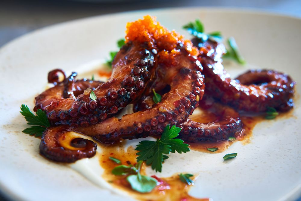 Roasted octopus