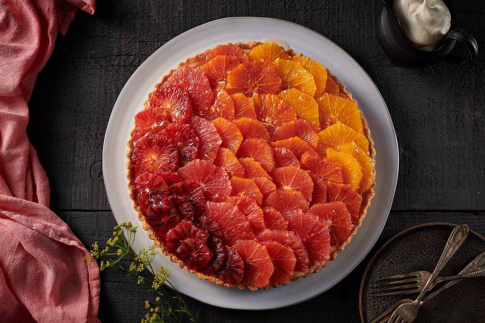 Mixed citrus tart