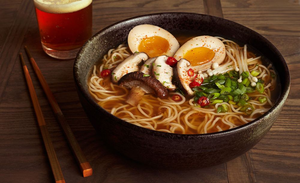 Spicy ramen bowl