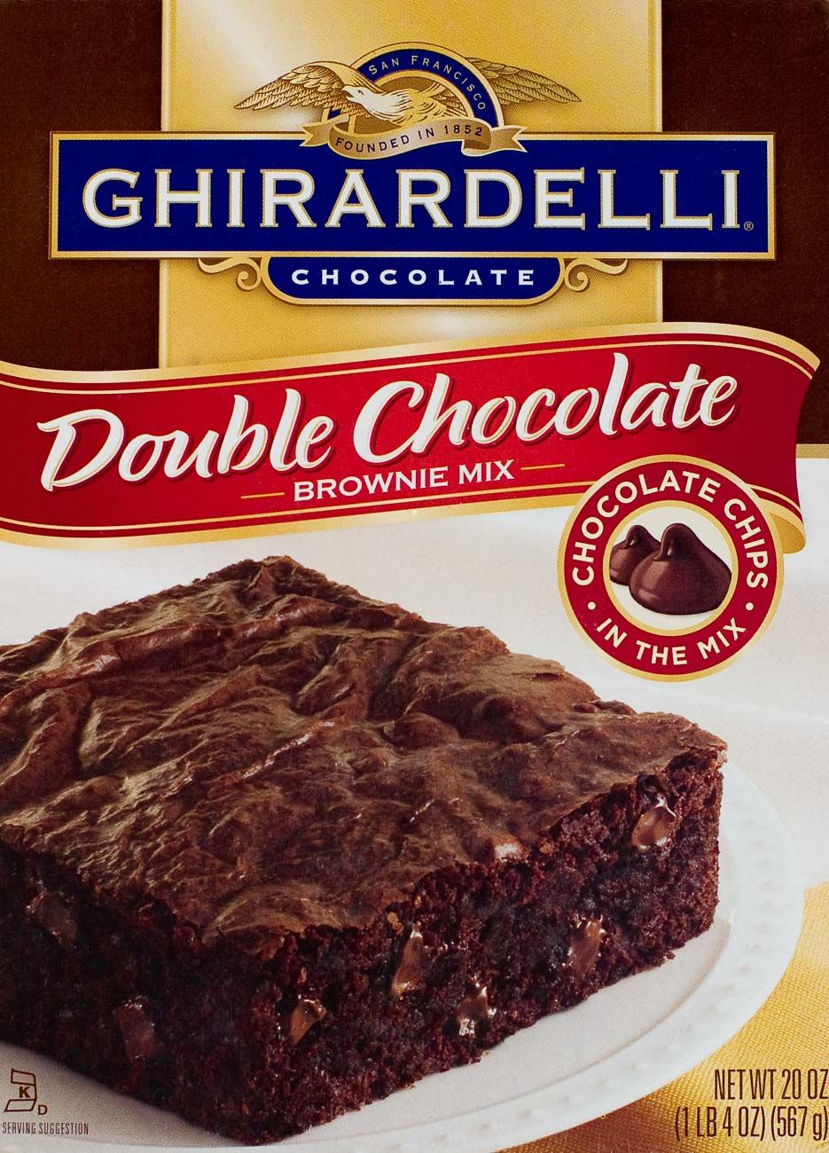 Ghirardelli double chocolate brownie packaging