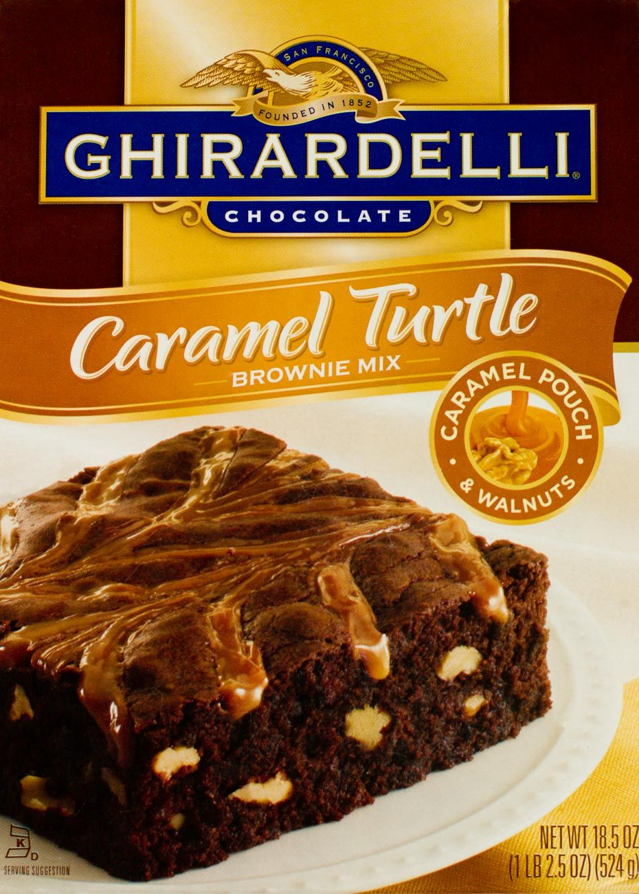Ghirardelli chocolate brownie packaging