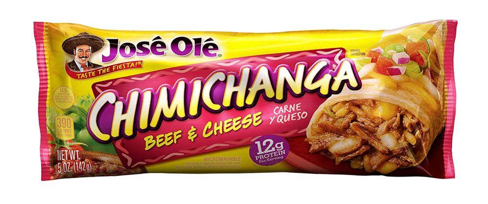 Jose Ole beef and cheese chimichanga