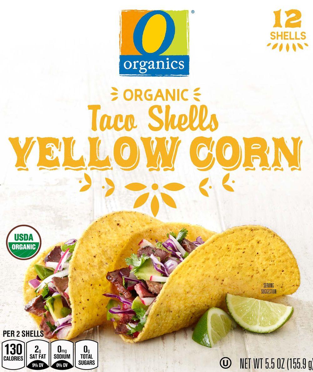 O Organics yellow corn taco shells